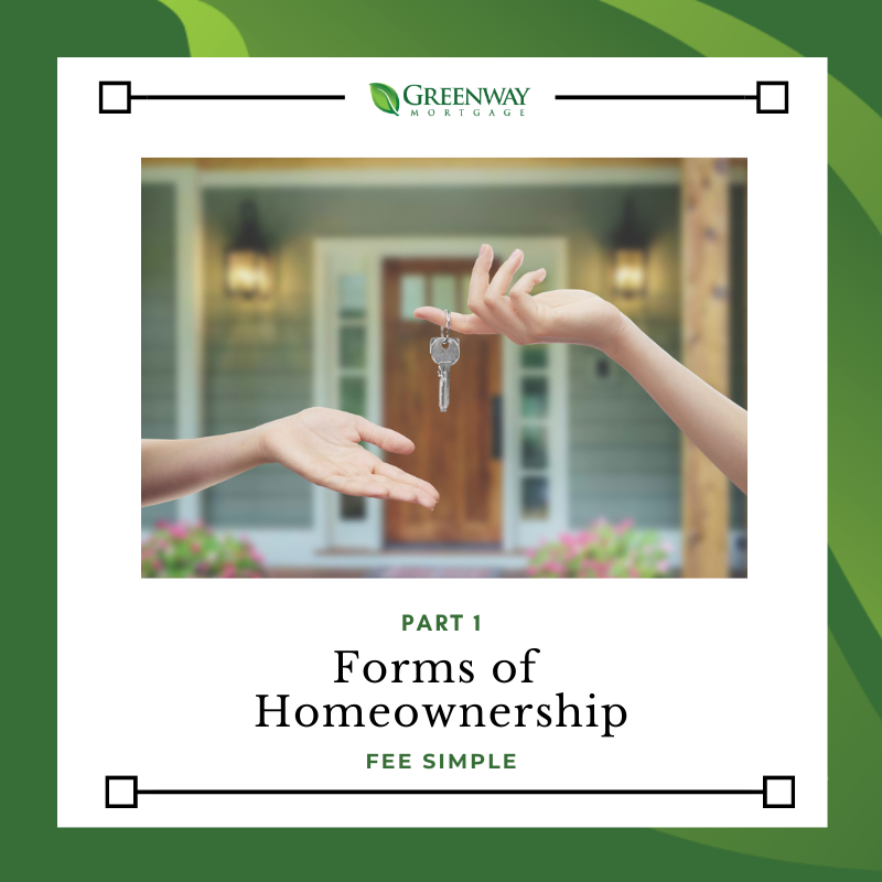 Part 1: Forms Of Homeownership: Fee Simple